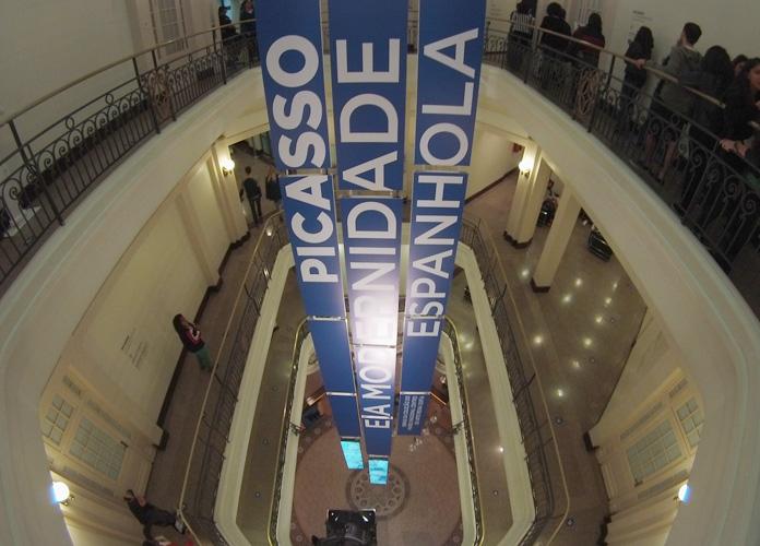 """CCBB durante a exposição """"Picasso e a modernidade espanhola"""""""