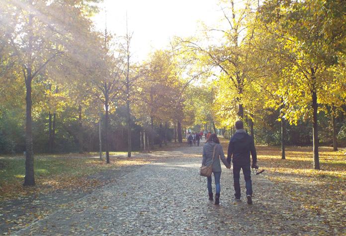 Passear pelos parques