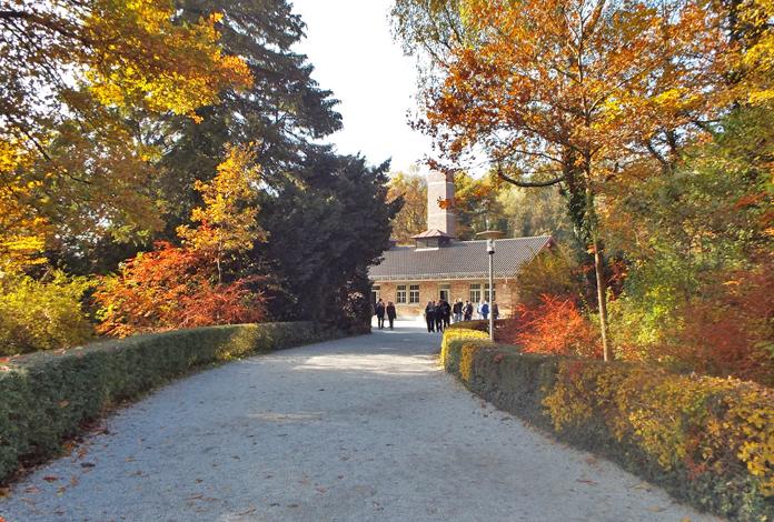 Caminho que leva ao crematório