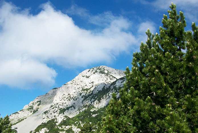 Parece, mas nem tudo é neve, a rocha que é branca.