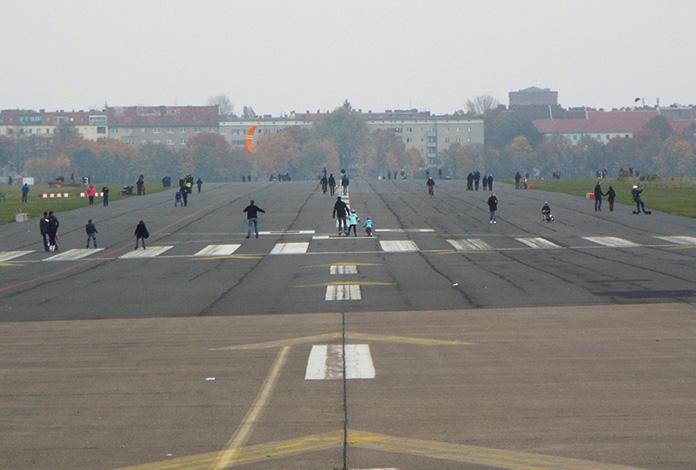 Pistas onde antes pousavam aviões, hoje são usadas para esportes