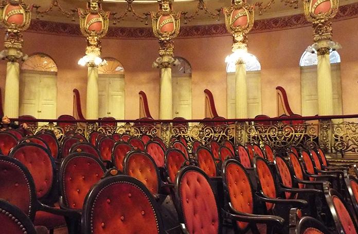 Cadeiras da platéia