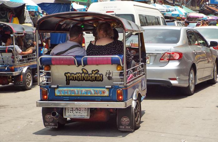 Tuk-tuk na Khao San Road