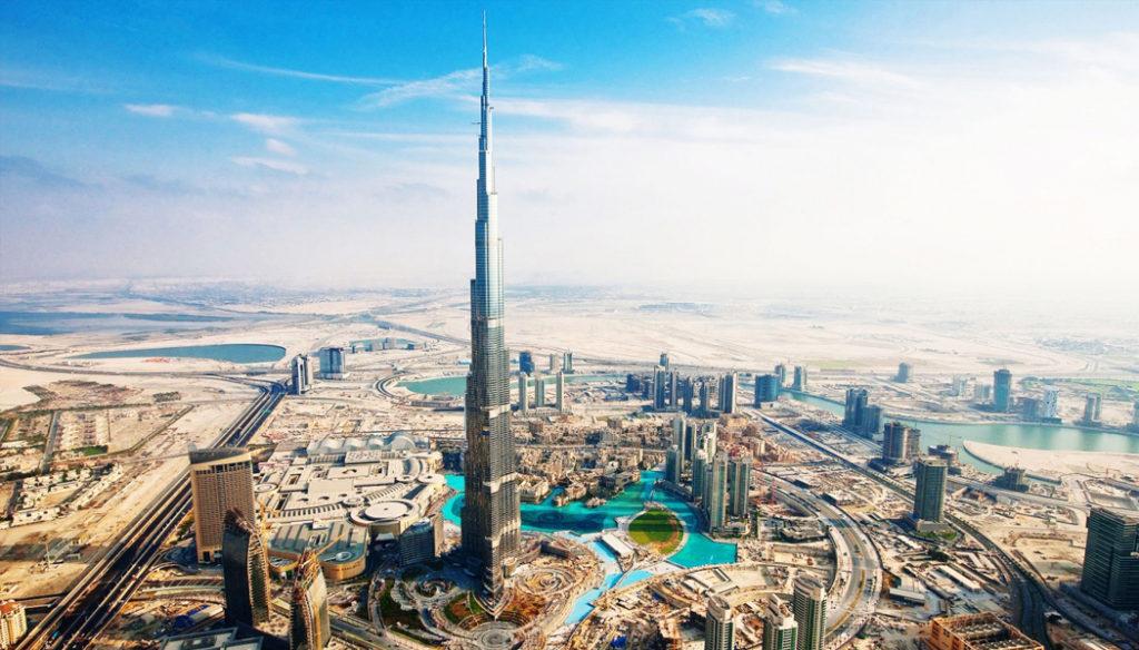 prédio mais alto do mundo visto para os Emirados Árabes países onde brasileiros podem viajar