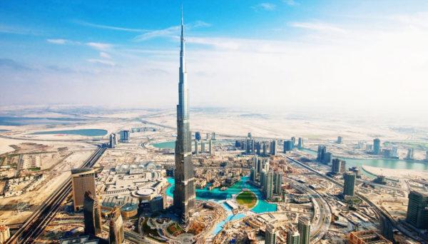 prédio mais alto do mundo visto para os Emirados Árabes