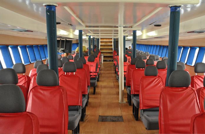 Interior dos barcos