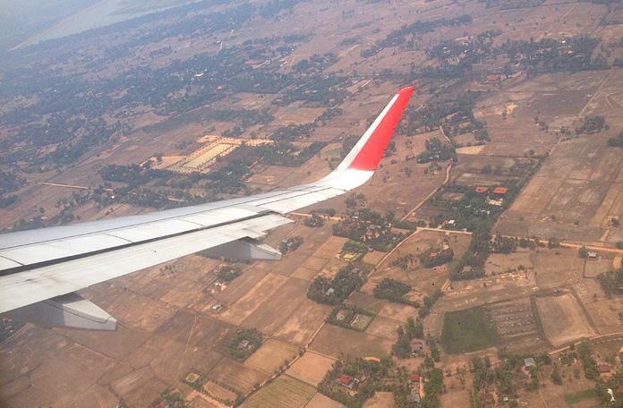 Sobrevoando o Camboja