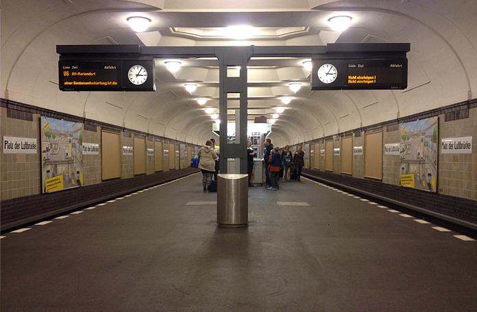 Outra estação bem antiga do Metrô de Berlim