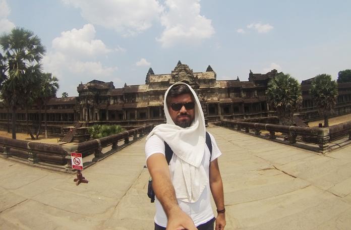 Torrando nos 45 graus do Camboja e feliz da vida