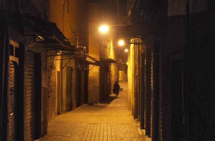 A noite é deserta