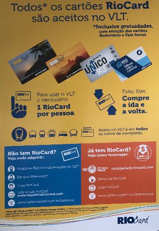 Displays mostrando os cartões aceitos
