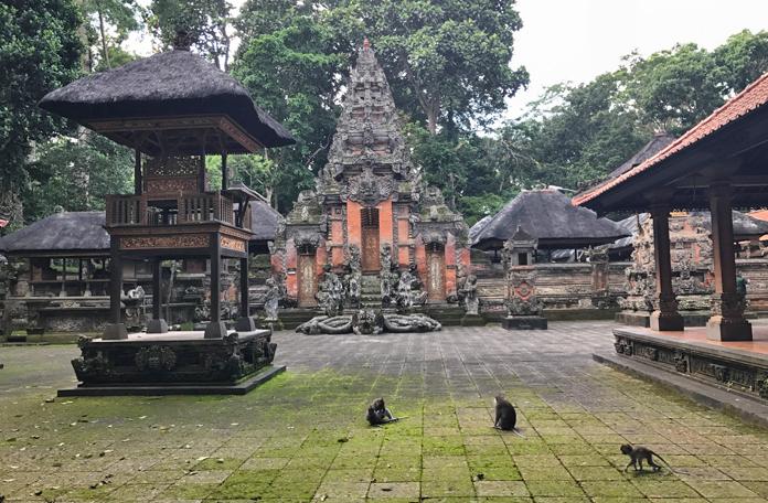 Um dos templos principais da floresta