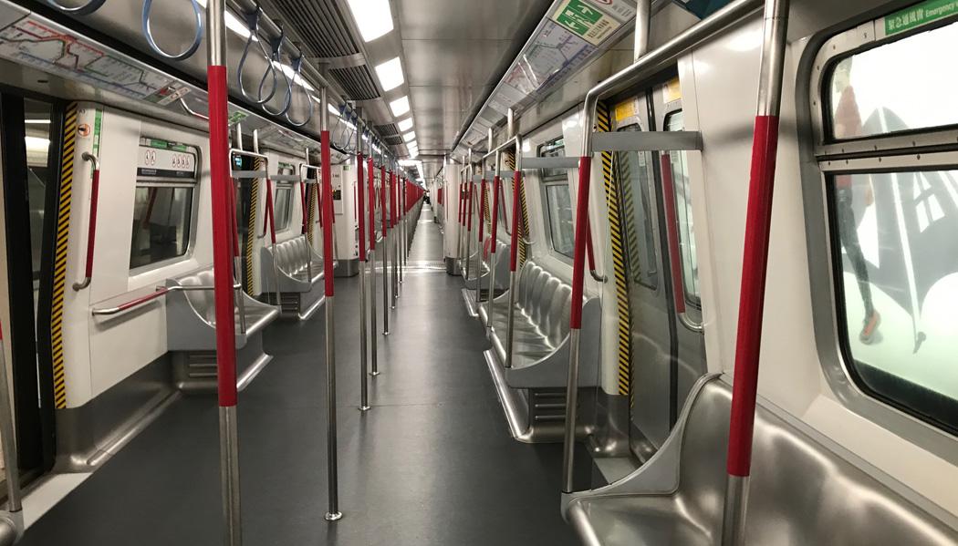 Vagão do metrô de Hong Kong