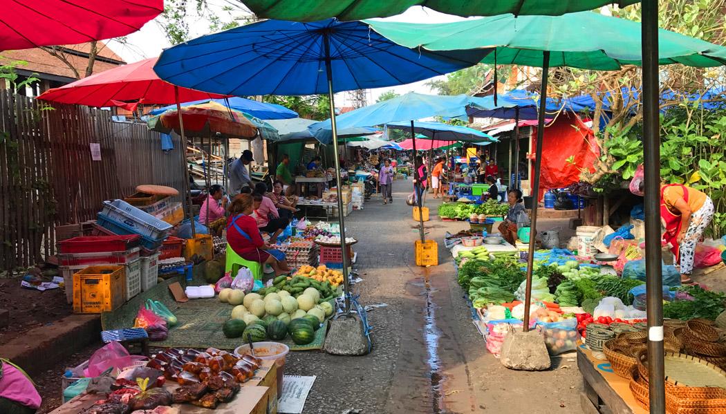 O que fazer em Luang Prabang: Morning Market