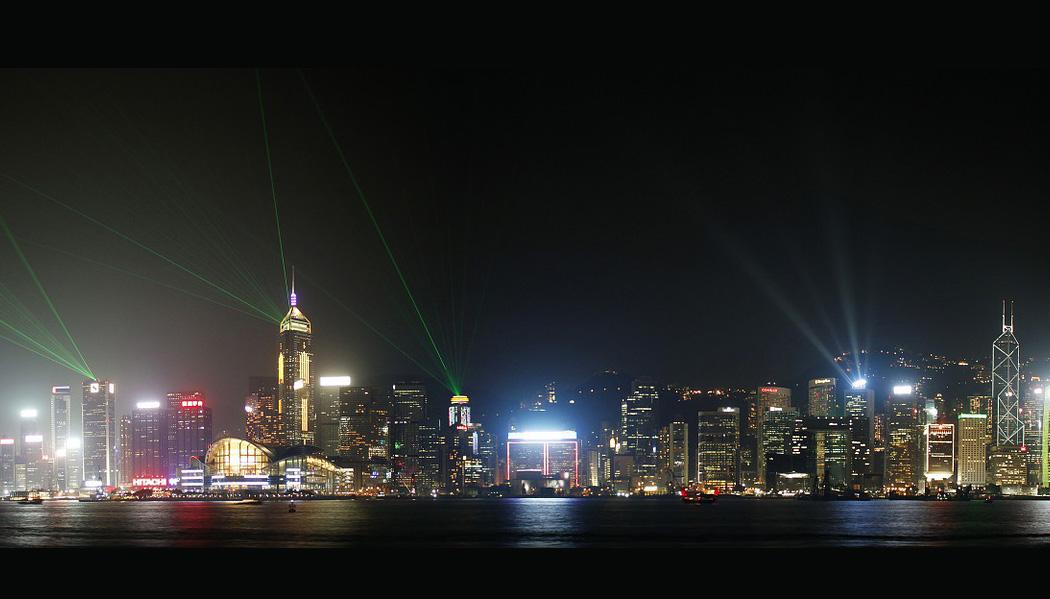 show de luzes de Hong Kong