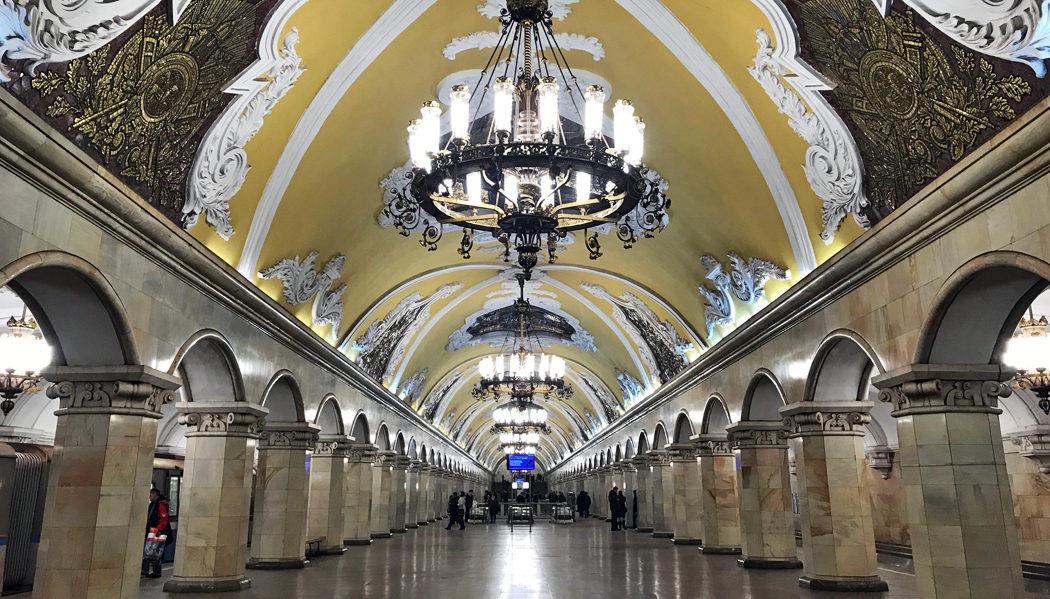 tour pelas estações de metrô de Moscou