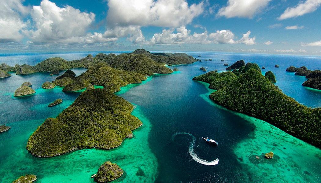 Cinco lugares na Indonésia