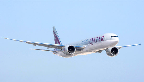 classe executiva da Qatar no Boeing 777