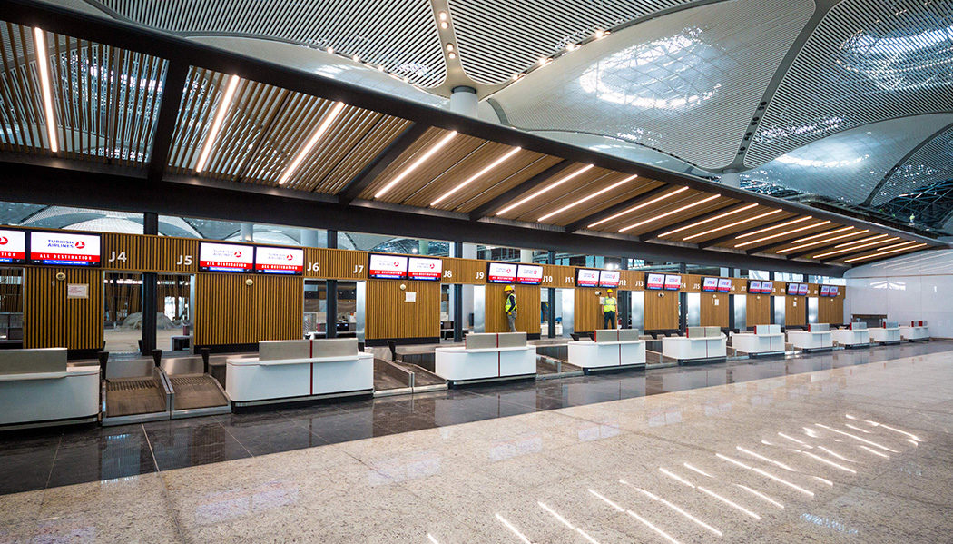 operando no novo aeroporto de Istambul