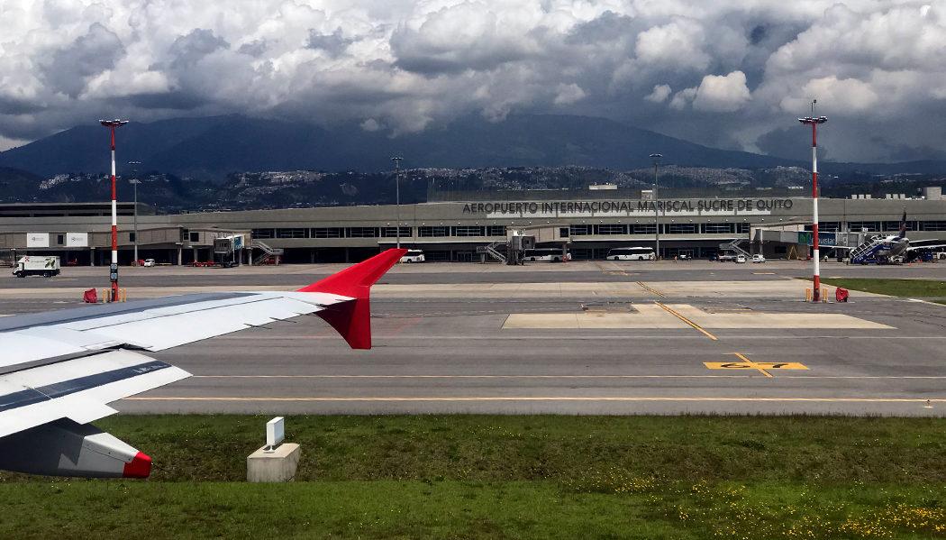 Chegando em Quito