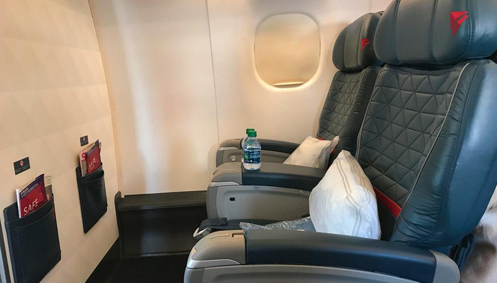 primeira classe da Delta
