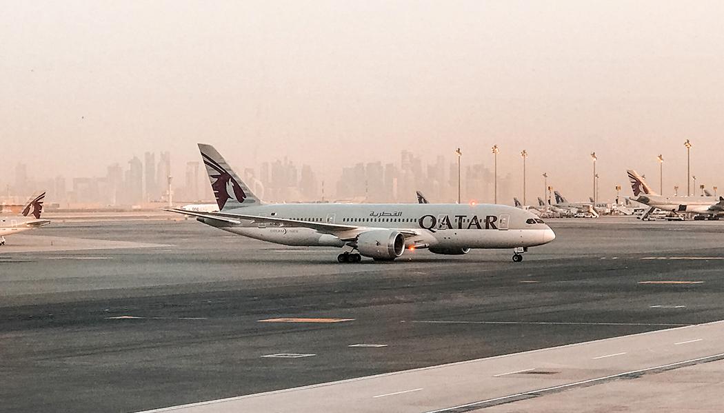conexão em Doha no Qatar