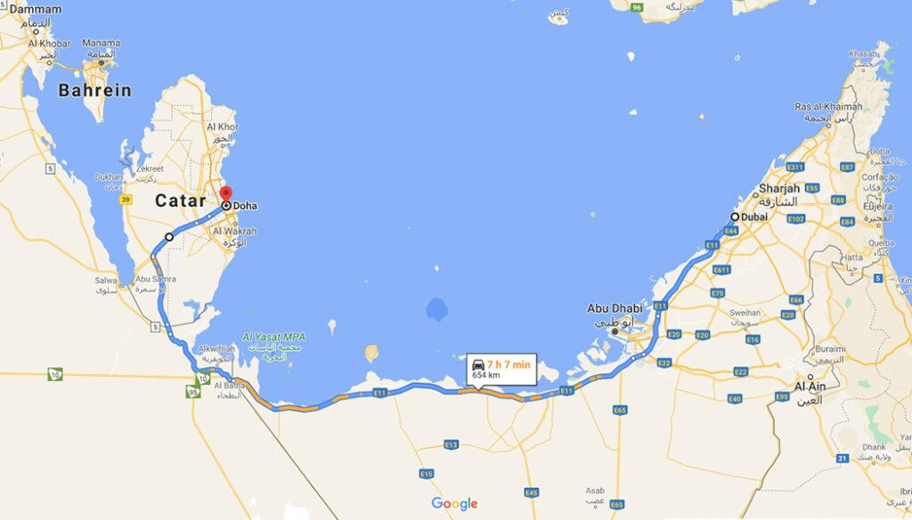 Como ir de Doha para Dubai